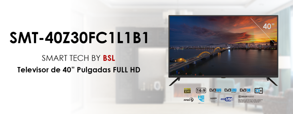Televisor Smart Tech by BSL de 32 Pulgadas DBVT2 | FULL HD LED de 1920X1080pp