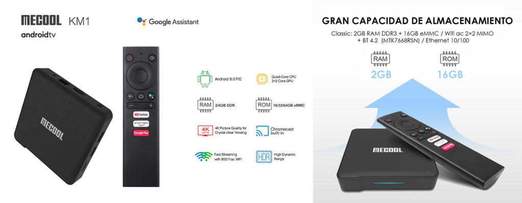 La KM1 CLASSIC con Android 9.0 Pie 2GB RAM y 16GB ROM