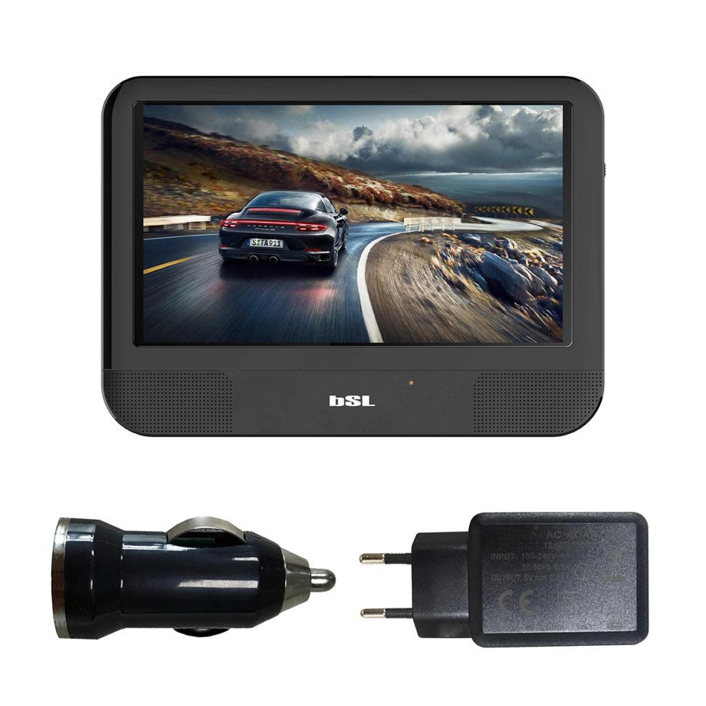 Reproductor DVD Android 9 pulgadas portátil BSL-9TANDX, pantalla táctil con conexión bluetooth y wifi. USB, DVD, HDMI. 1GB RAM /8 GB ROM