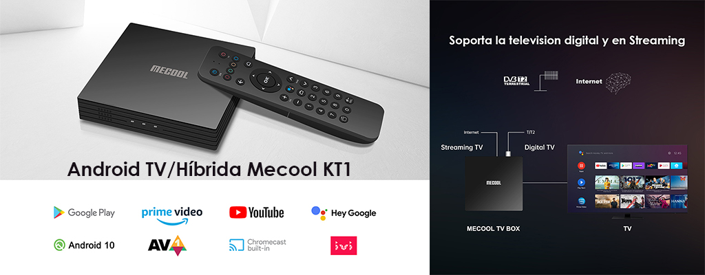 caja android tv mecool kt1